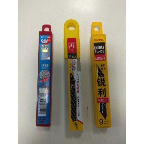 Лезвия для ножа сменные 30 градусов 9mm