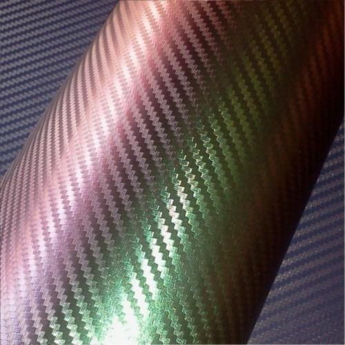 Пленка карбон 3D хамелеон пурпурный