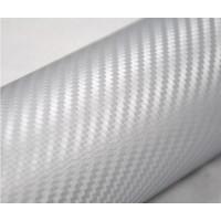 Пленка карбон 3D серебро