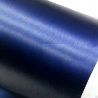 Пленка под шлифованный алюминий синий