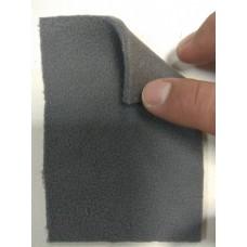 Трикотажное велюровое полотно на поролоне 3мм темно серого цвета