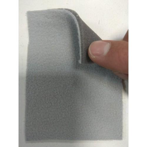 Трикотажное велюровое полотно на поролоне 3мм светло серого цвета
