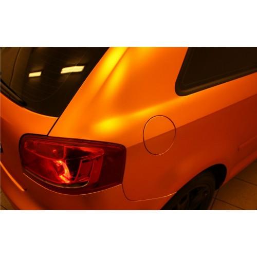 Виниловая пленка матовый хром оранжевый