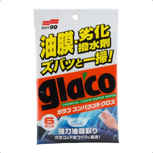 Очищающие салфетки для стекол Glaco Glass Compound Sheet
