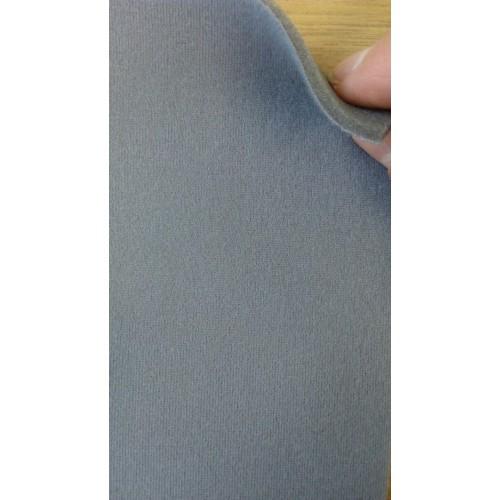 Трикотажное велюровое полотно на поролоне 3мм серого цвета