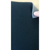 Трикотажное велюровое полотно на поролоне 3мм черного цвета