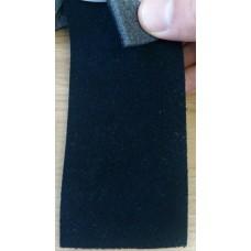 Ткань велюр черный Германия