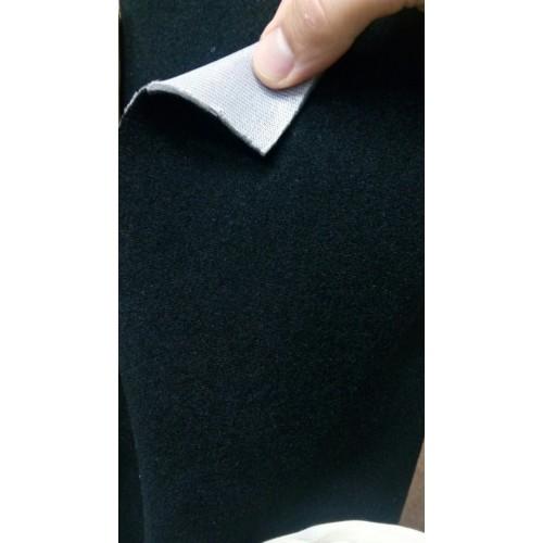 Ткань велюр черный Польша